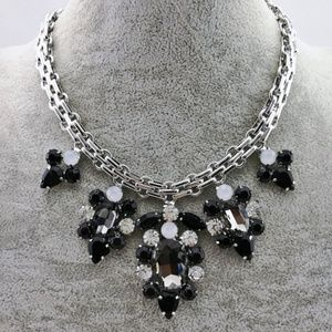 Black and White Glam Necklace